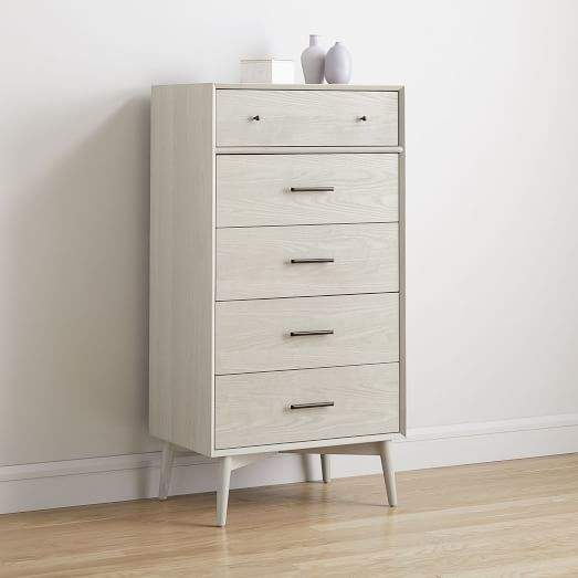 d249b3455b8 west elm Mid-Century 5-Drawer Dresser - Pebble in 2019