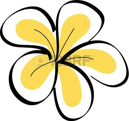 Drawing Tropical Plumeria Flowers Vector Plumeria Flowers Flower Drawing Botanical Drawings