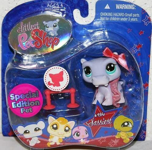 Amazon.com: Littlest Pet Shop Assortment 'A' Series 4 Collectible Figure Hippo (Special Edition Pet!): Toys & Games