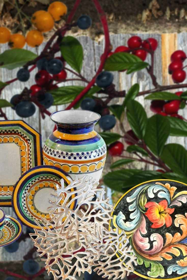 The Fall Collection of Artisan Talavera Dinnerware Servingpieces u0026 Vases - plus crafted Mexican Pewter. We love the changing seasons and these lush ... & The Fall Collection of Artisan Talavera Dinnerware Servingpieces ...