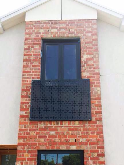 Decorative Screen Used As Sun Shade And Exterior Decor Element On The Side  Of A House