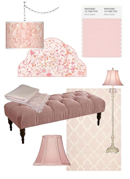 Home Decor Color of the year Rose Quartz and Serenity 2016