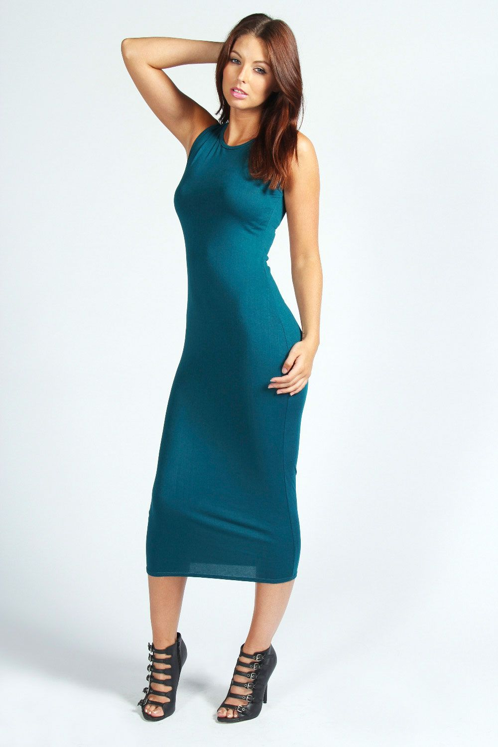 Lindsey Sleeveless Midi Dress Fitted Midi Dress Form Fitting Maxi Dress Going Out Dresses [ 1500 x 1000 Pixel ]