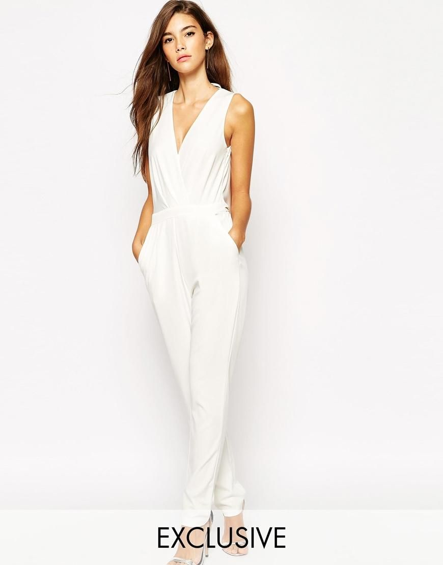 NaaNaa | NaaNaa Wrap Front Jumpsuit With Cowl Back at ASOS