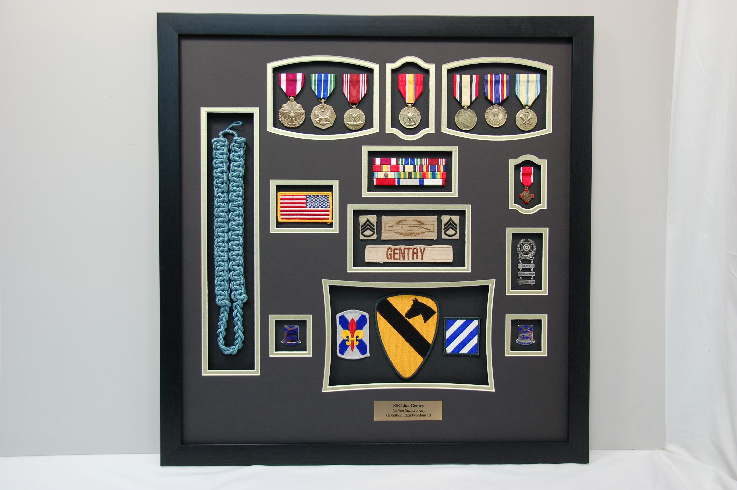 Us Army 1st Cavalry Infantry Ssg Shadow Box We Mounted