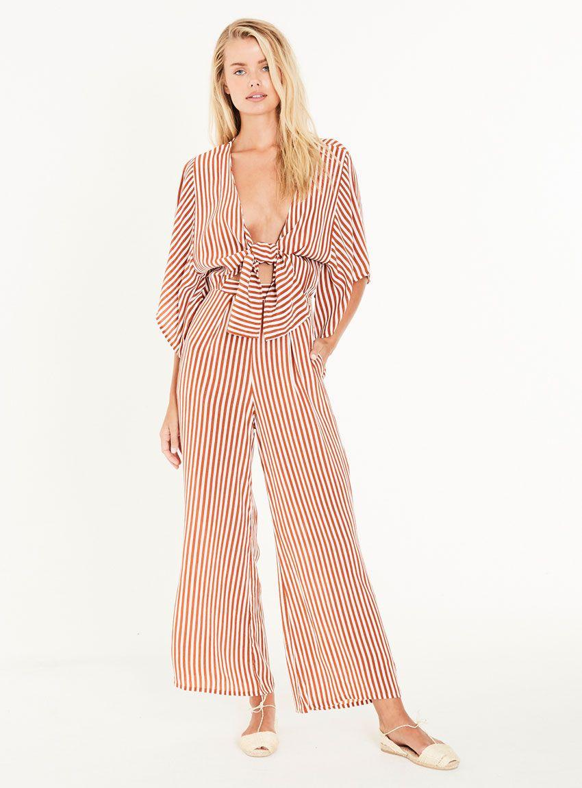 d65bc7ea984 Faithfull the Brand Tilos Jumpsuit – Brighton Stripe Print