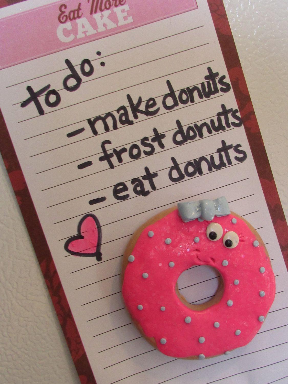 Doughnut Refrigerator Magnets, Donut Magnets, Doughnut Magnets, Donut Frig Magnets, Donut Gifts, Cute Refrigerator Magnets, Sweet Magnets by SamsSweetArt on Etsy