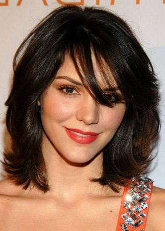 Layered Hairstyles For Medium Length Hair With Side Fringe