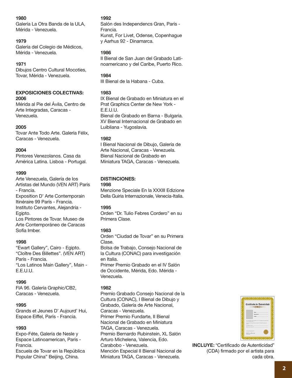 MARTÍN MORALES - Curriculum (Parte 2)   MAESTROS / ARTISTAS para ...