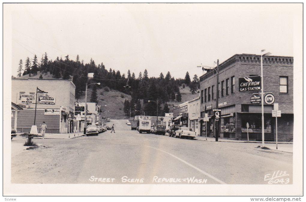 RP: Main Street , REPUBLIC , Washington , 30-40s : ELLIS 6043