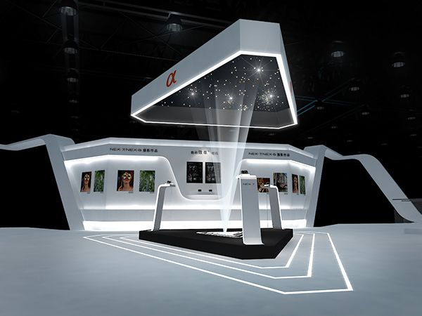Exhibition Stand Design Concepts : Sony concept design on behance exhibit pinterest