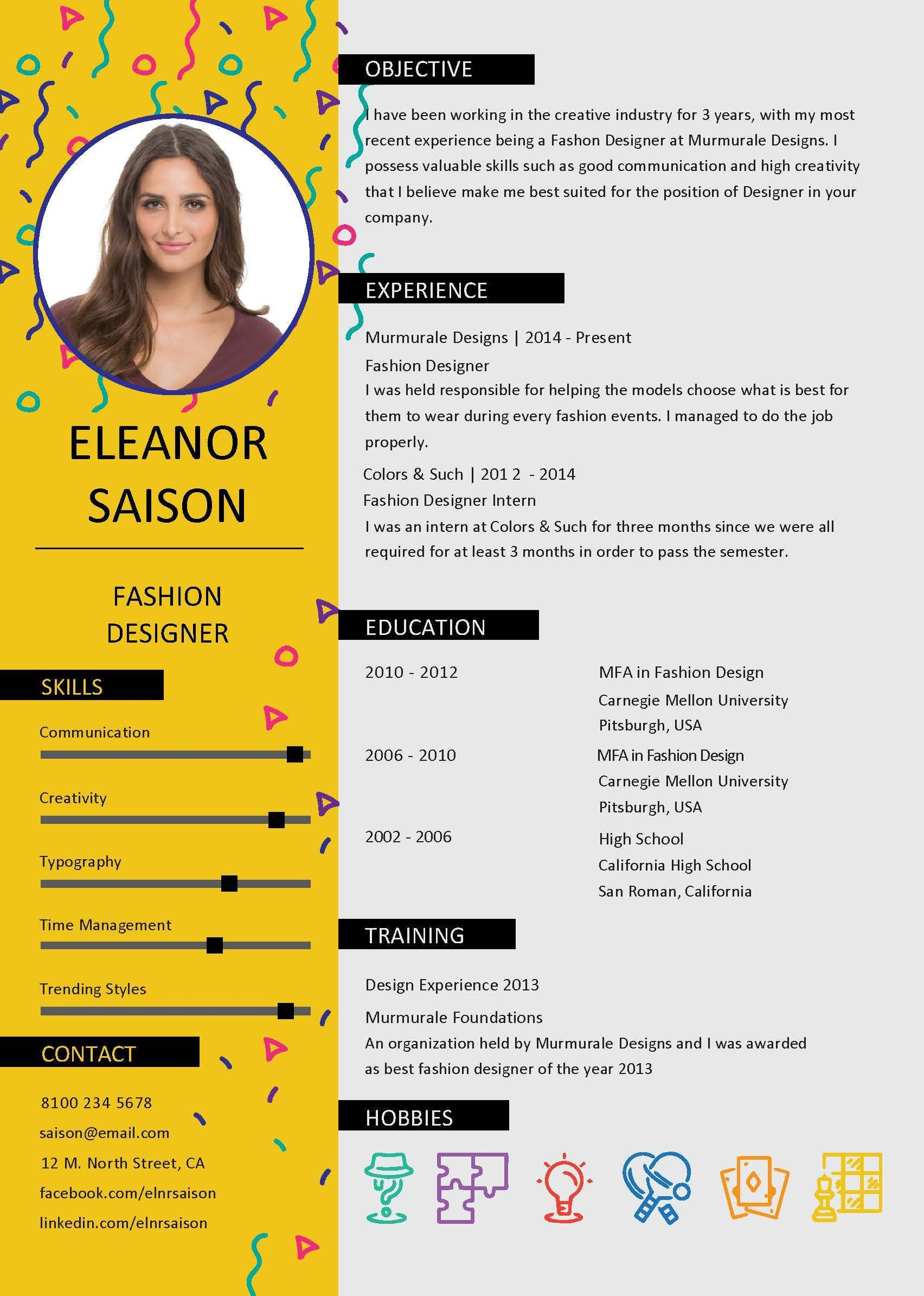 Professionally Designed Resume Template And Cover Letter