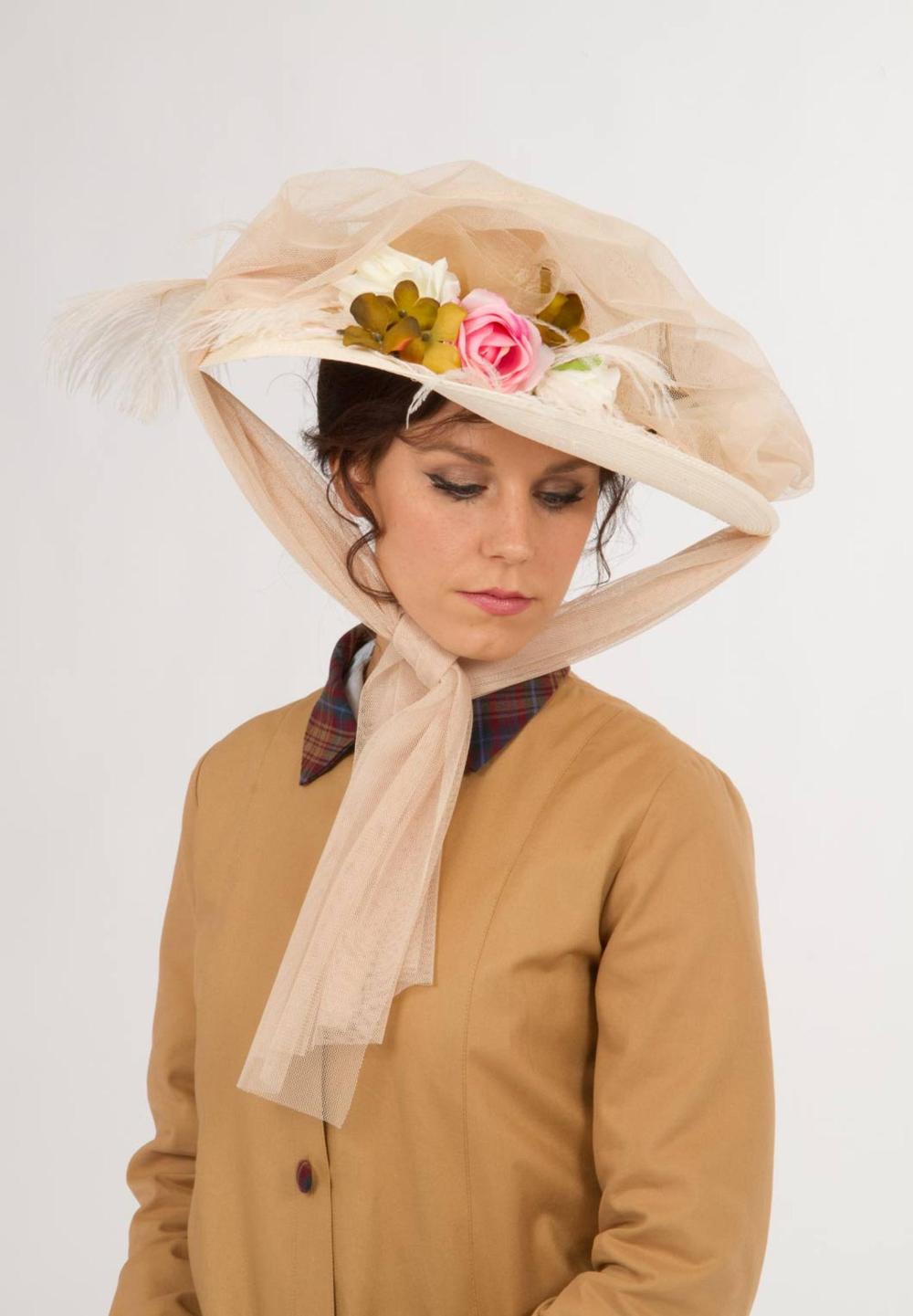 H170650 Edwardian Automobile Hat Edwardian Hat Victorian Hats Hats Vintage [ 1441 x 1000 Pixel ]