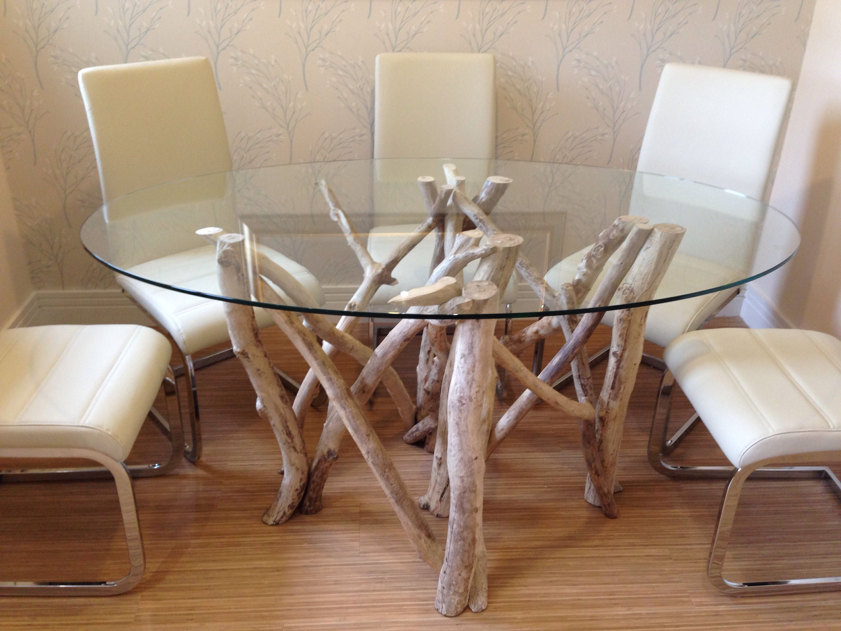 Bespoke dining table design - Bespoke Driftwood Dining Table Made By Colin Semple Furniture Design Peebles Scotland
