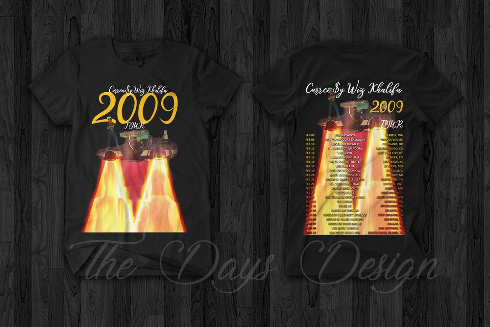 6c0f0d302a2f Wiz Khalifa & Curren$y 2009 Tour Merch Tour 2019 T Shirt Taylor Gang Hip