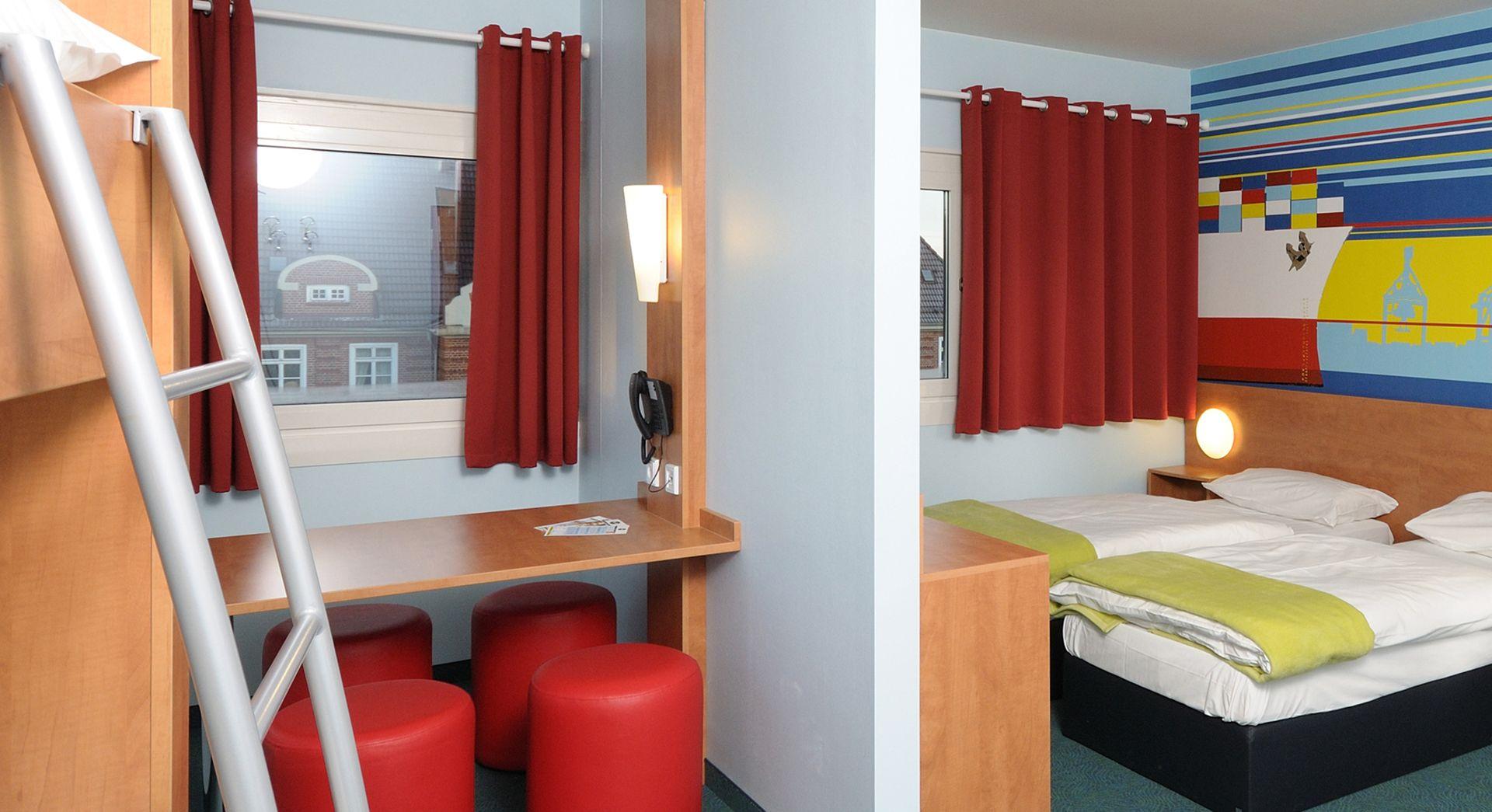 Familienzimmer für 4 Personen im B&B Hotel HamburgAltona