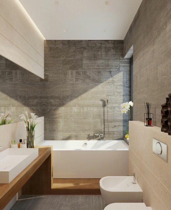Bad Holz und Schiefer Bäder Pinterest Schiefer, Bäder und Holz - badezimmer modern schiefer