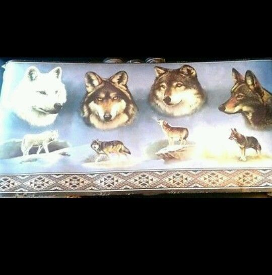 New Sealed Ducks Unlimited Wolf Wallpaper Border Wolves