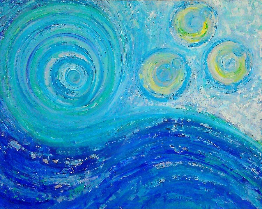 Ocean Wave Abstract Painting Painting | art | Pinterest ...