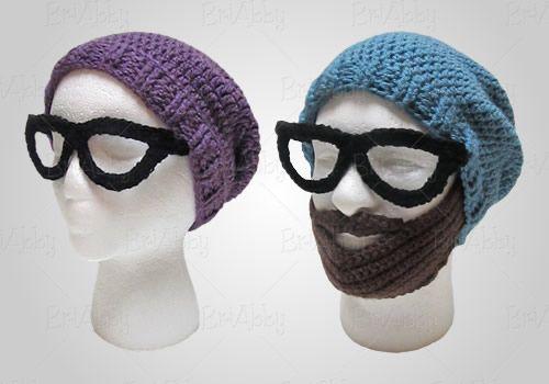 crochet beard hipster beanie pattern | Crochet | Pinterest