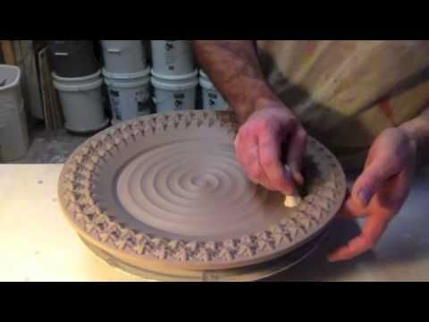Another Stamped Platter By Gary Jackson Fire When Ready Pottery Youtube With Images Pottery Lessons Pottery Ceramic Clay