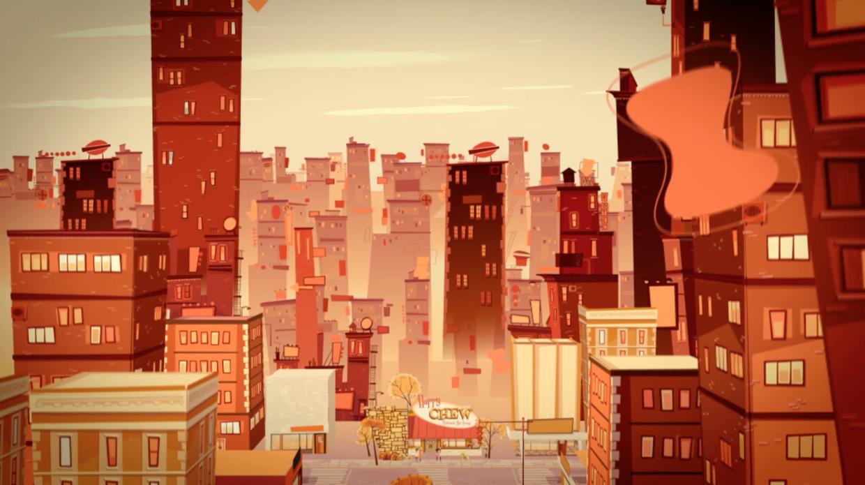 Cartoon City Scape Animation Background City Cartoon Environment Concept Art