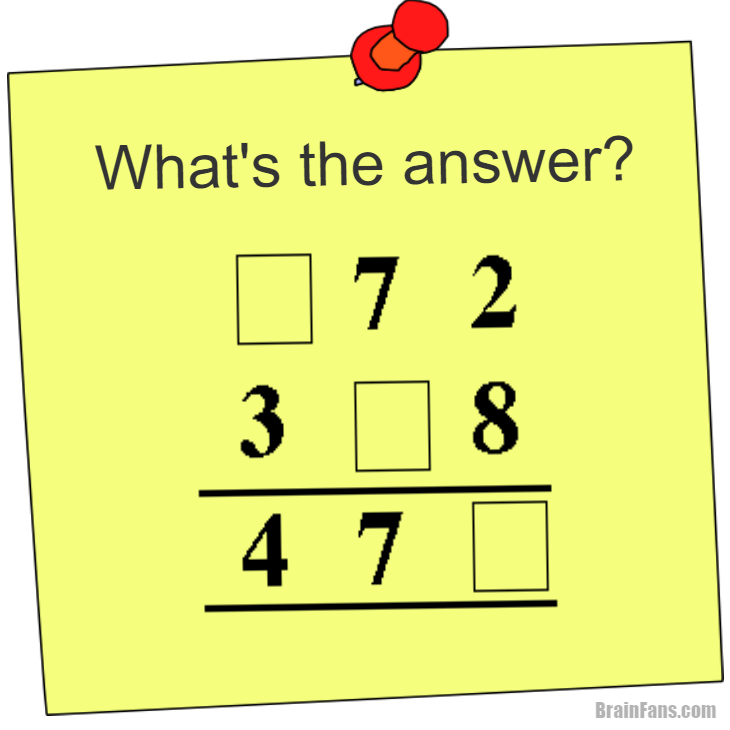 Brain Teaser Picture Logic Puzzle What S The Answer Math What S The Answer Math Puzzle Fill Math Logic Puzzles Logic Puzzles Brain Teasers Maths Puzzles
