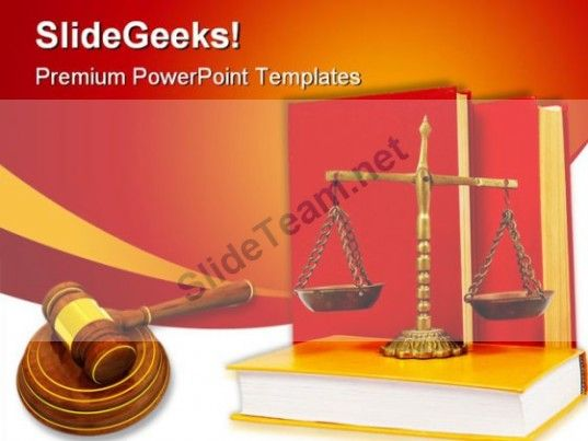 Wooden Gavel Law PowerPoint Template 1110 #PowerPoint #Templates ...