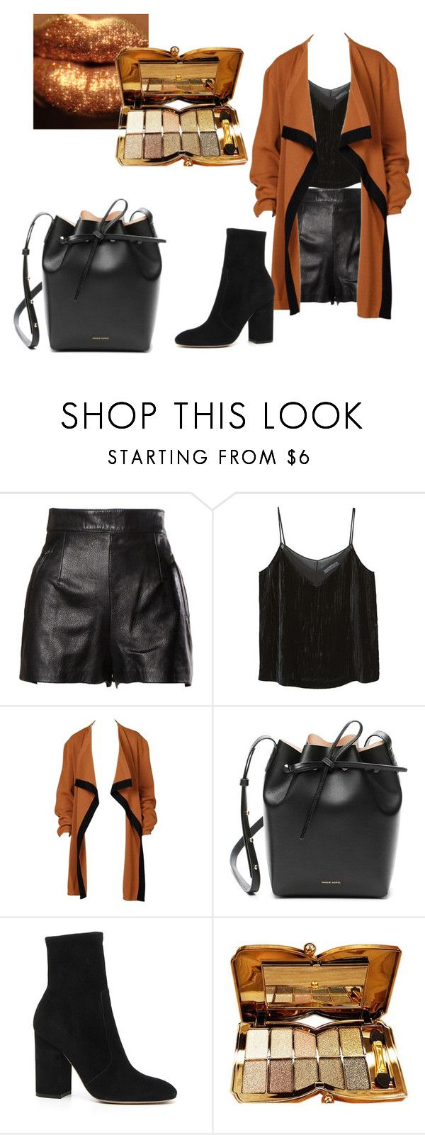 """""""Untitled #328"""" by gildaronca ❤ liked on Polyvore featuring Moschino, MANGO, Courrèges, Mansur Gavriel and Valentino"""