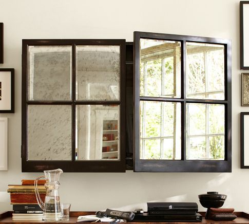 Mirror Cabinet Media Solution | Pottery Barn - this is too small ...