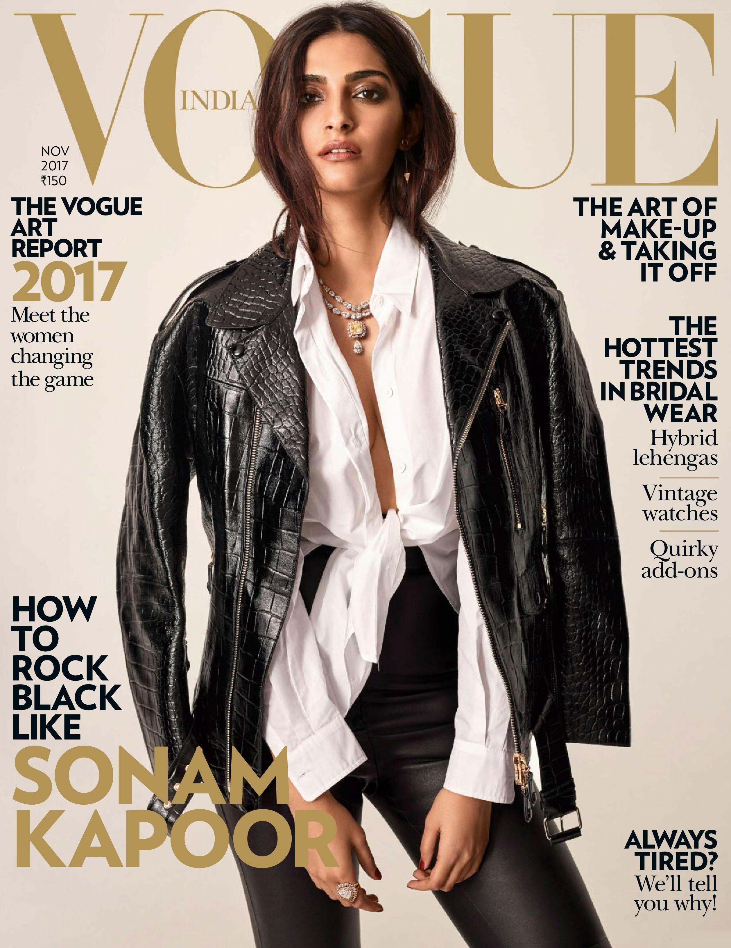Vogue India, November 2017. Sonam Kapoor on the Magazine Cover ... 4b423db989