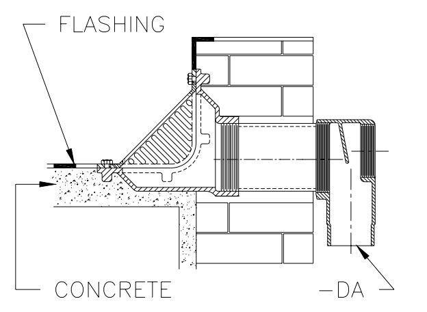 Roof Drain With Overflow Revit R1270 Series Combined Large