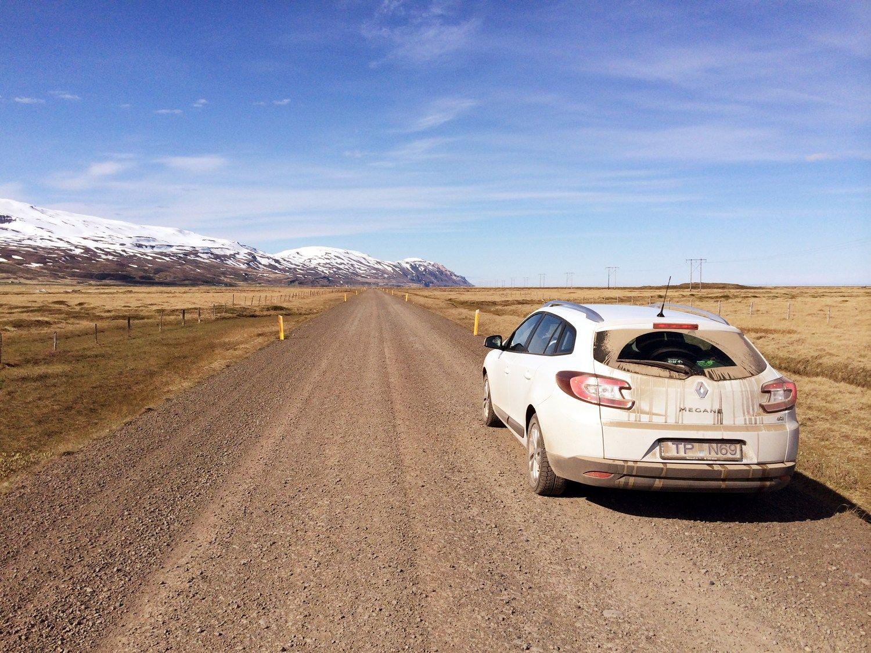 Isländische Schotterpisten