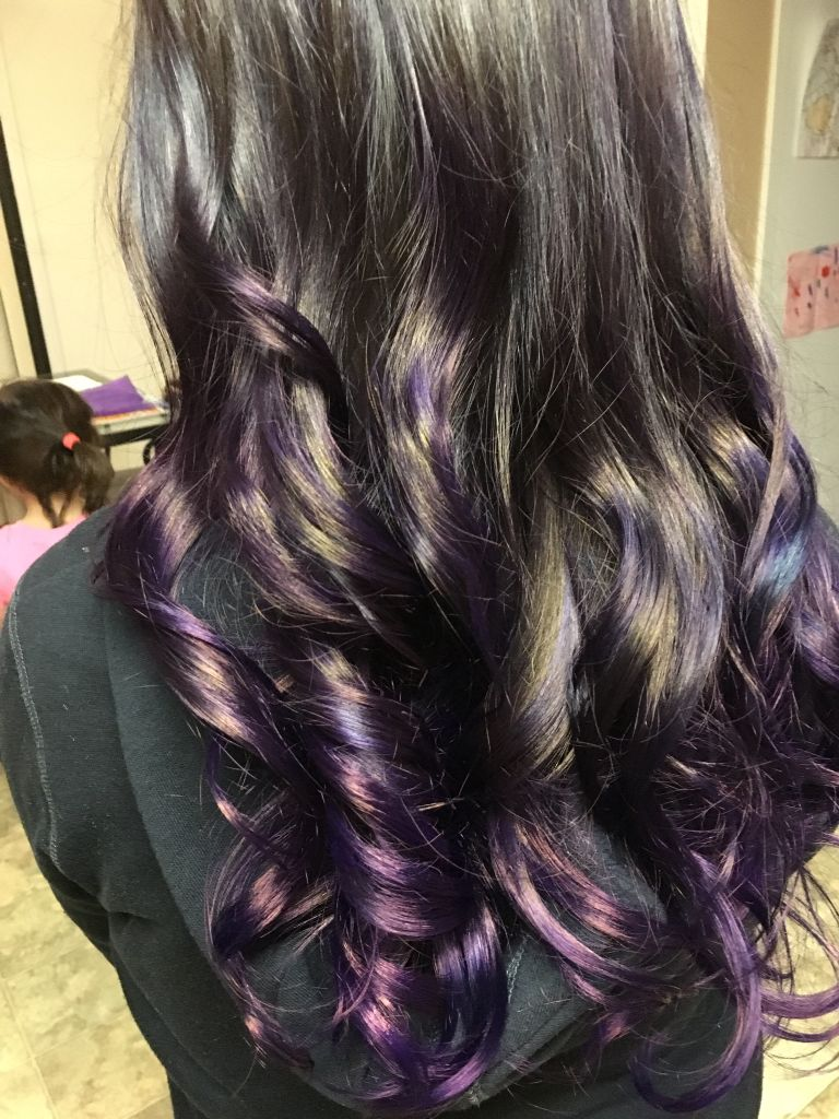Purple hair new and improved hair love it so much bleached then