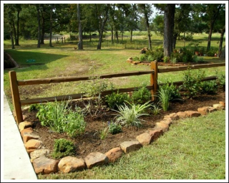 rustic landscaping rusticfence