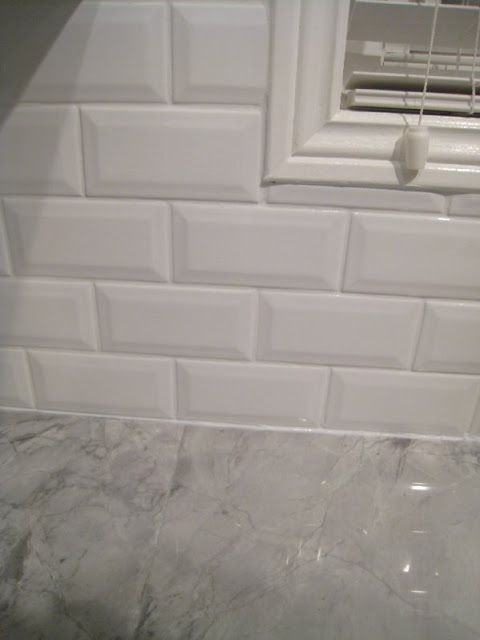 Beveled Subway Tiles Backsplash And Gray Granite Countertop Interior Groupie Kitchen Reveal Part 3 The