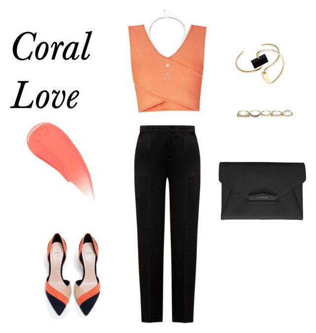 """Spring beauty : Corals"" by sebolita ❤ liked on Polyvore featuring BCBGMAXAZRIA, Zara, Alberta Ferretti, Roksanda, Givenchy, Sole Society, Burberry, coral, contestentry and polyvorecontest"