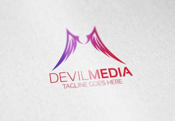Devil Media Logo by Samedia Co. on Creative Market