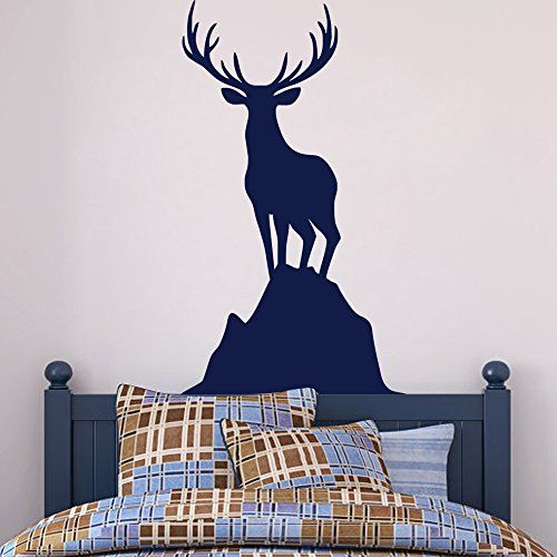 Deer Wall Decal Buck Wall Decal Hunting Wall Decal Deer Vinyl - Custom vinyl wall decals deer