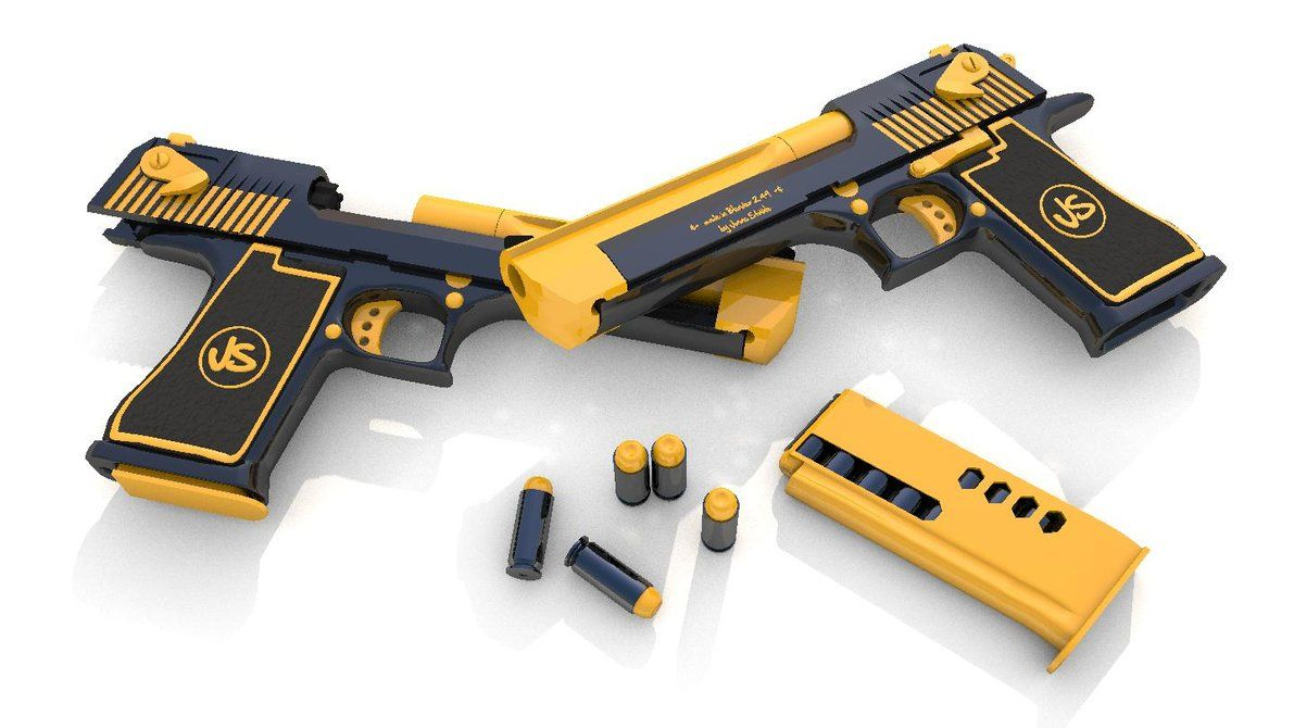 Not a desert eagle this is probably nerf or nerfed like - Nerf wallpaper ...