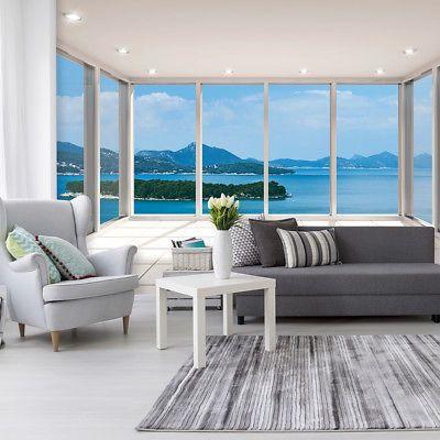 Vlies Fototapete Meer Insel Terrasse Fenster 3d Tapete Wandbilder Xxl Wohnzimmer 3d Wandbilder Wohnzimmer 3d Tapete Gartenmobel Sets