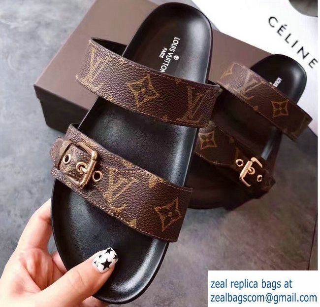 69e74a77404 Louis Vuitton Bom Dia Mules Sandals 1A29GB Noir 2017 | Louis Vuitton ...