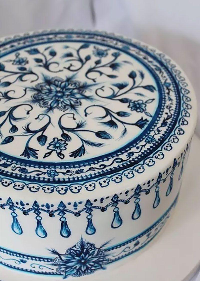 Sencillas y originales ideas de c mo decorar pasteles pintados a mano pasteles pintados - Como pintar azulejos a mano ...