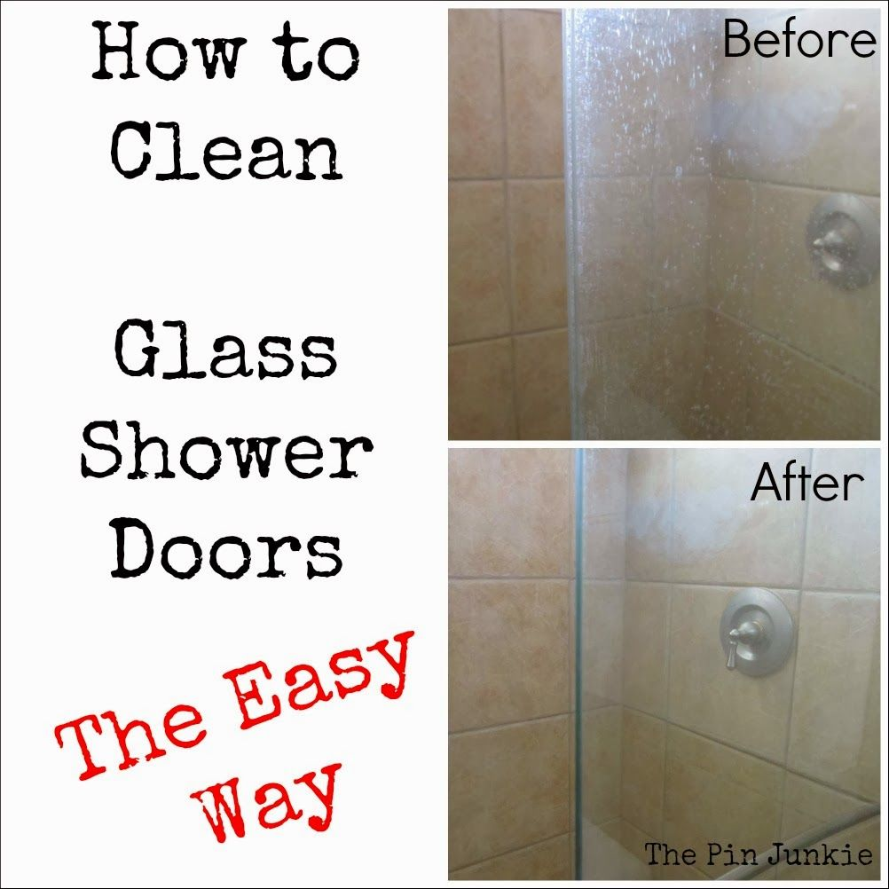 How To Clean Glass Shower Doors The Easy Way Pinterest Shower