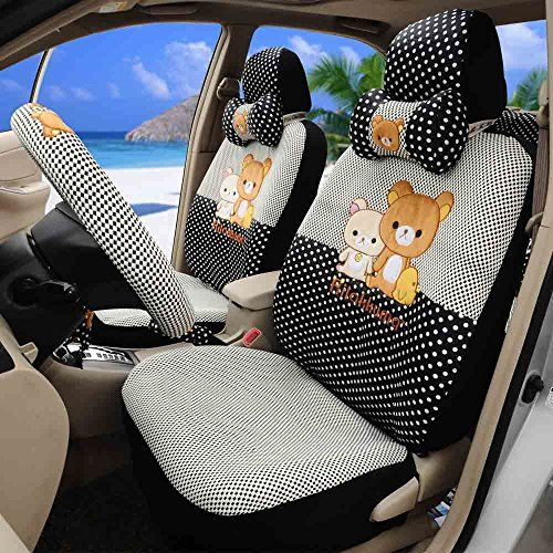 1 Set Summer Classical Seat Covers Front And Back Seat Covers