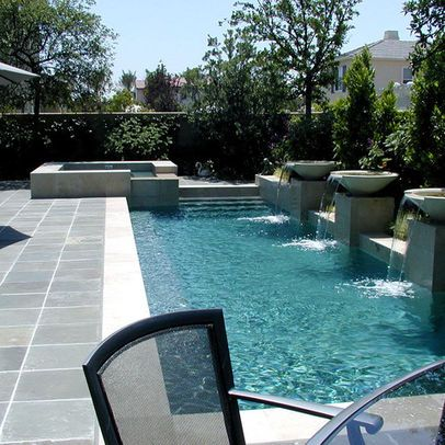 Gray Pool Deck Design Pictures Remodel Decor And Ideas Page 2 Small Backyard Pools Swimming Pools Backyard Small Pool Design