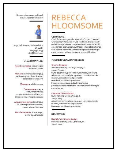 51 Creative Resume Templates Hloom Com Resume Template Free Resume Templates Word Template
