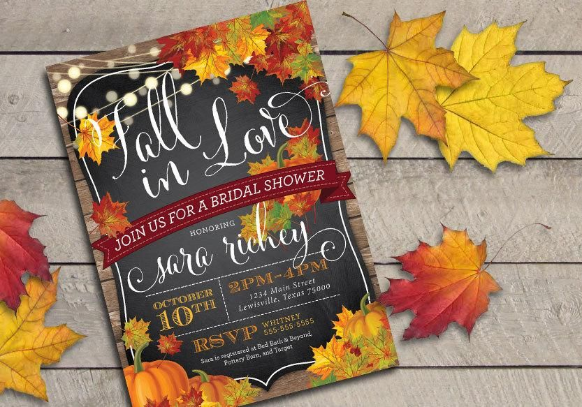 Printable fall in love bridal shower invitation bridal shower printable fall in love bridal shower invitation filmwisefo Gallery
