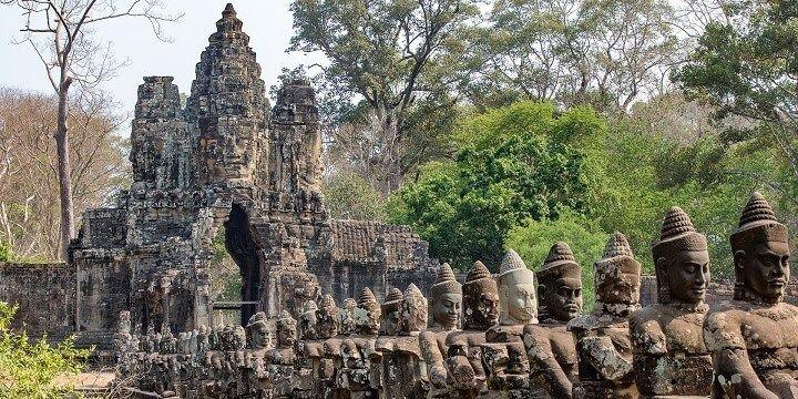 Angkor Thom, Angkor Wat, Siem Reap, Cambodia, Asia