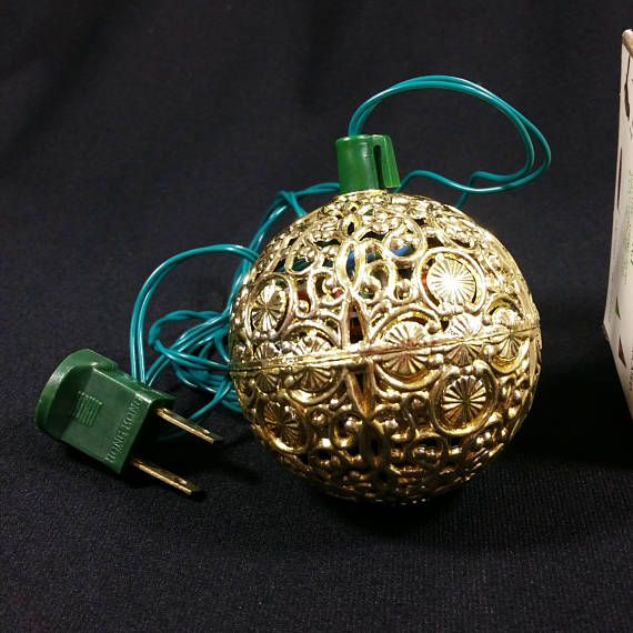 Vintage Chirping Bird Ornament This gold Christmas ball was made by Renown  Ball measures about 2.5 - Vintage Renown Chirping Bird Gold Ball Electronic Ornament Christmas